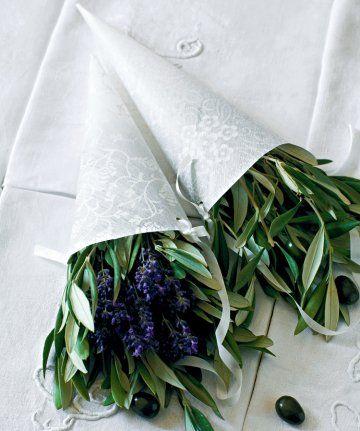Image D Olivier des branches d'olivier dans des cornets en papier   pinterest
