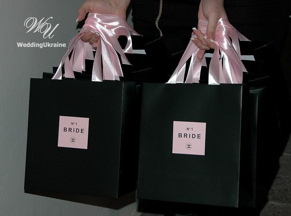 8adce9e4bbcb50 Chanel Theme Bridal shower favor bags by WeddingUkraine on Etsy ...
