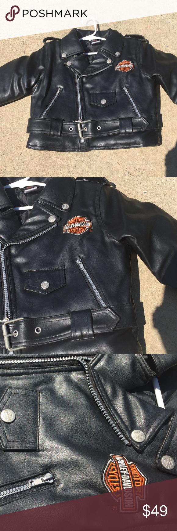Harley Davidson 3t Leather Jacket Baby Biker Harley Savodson S Most Lovable Jacket The Toddlers Leather Leather Jacket Clothes Design Harley Davidson Jacket [ 1740 x 580 Pixel ]