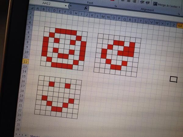 20140325_using excel to design 8x8 matrix patterns Arduino