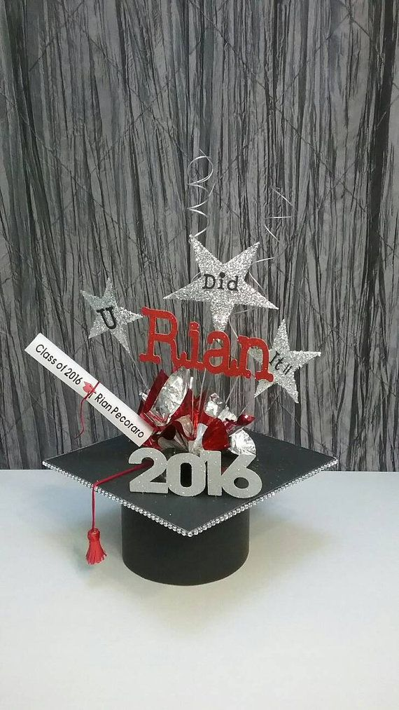 Pin By Uniqueandglitzy On Graduation Centerpiece Graduation