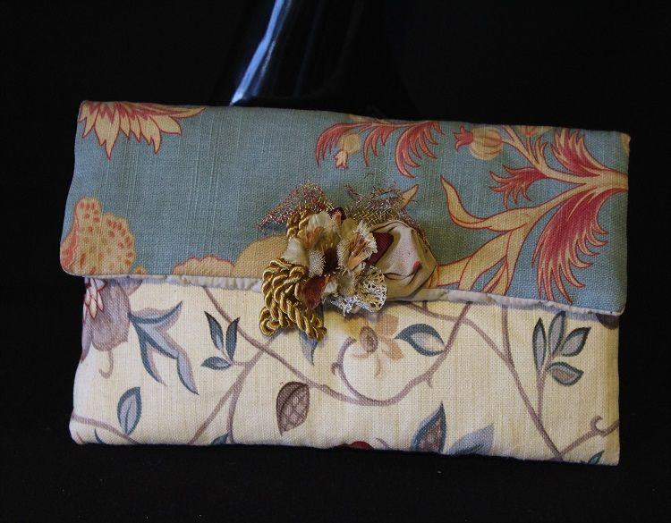 Bolso cartera de tapicería