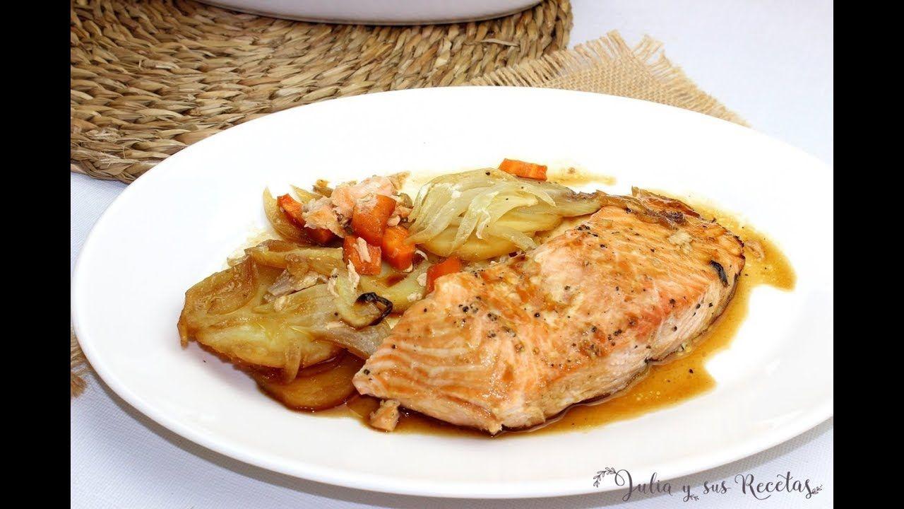 como hacer salmon en salsa