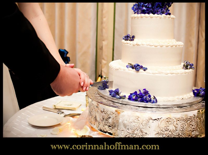 Purple flower wedding cake Jacksonville Florida www