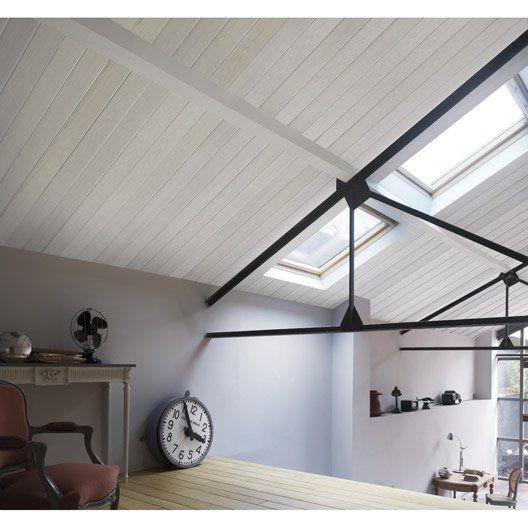 Lambris PVC décor bois blanc mat Country GROSFILLEX, L260cm x l