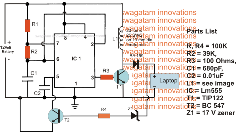 Simple 12V Car Laptop Charger SMPS voltage booster | Eletrônica ...