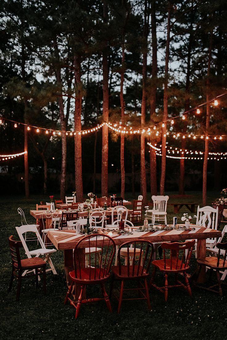 Wedding reception decoration ideas with lights  backyard wedding receptions with lights  ruffledblog
