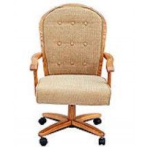 Astonishing Cm183 Caster Chair On Wheels By Chromcraft Home My Office Machost Co Dining Chair Design Ideas Machostcouk