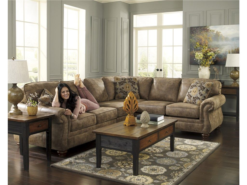 Signature Design Living Room 31901 Larkinhurst - 3 Piece Sectional - Furniture Plus Inc. - Mesa, AZ.