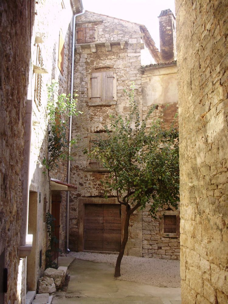 Inside the Kastela Visoko there are small courtyards and restored ...
