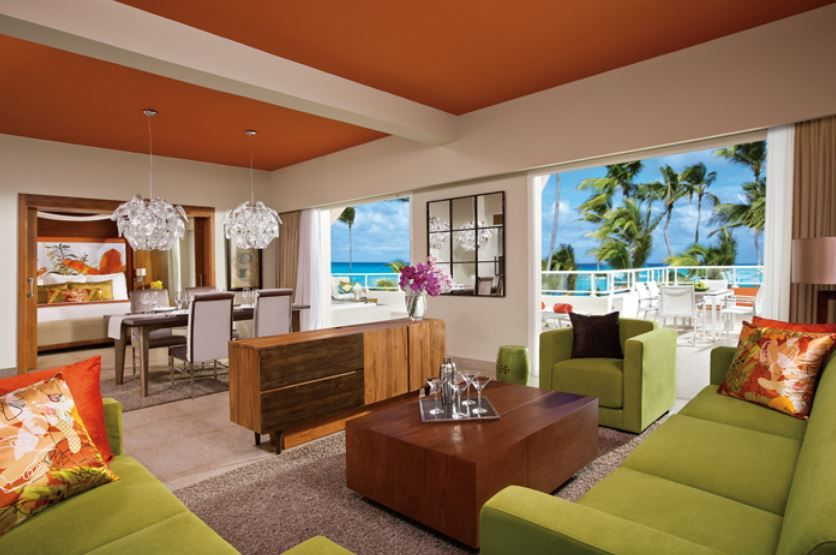 One of the suites at the Breathless Resort  Spa Punta Cana For