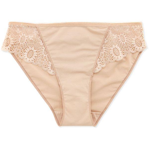 Simone Perele Caressence Basic Bikini Briefs (632885 BYR) ❤ liked on Polyvore featuring intimates, panties, underwear, lingerie, black, underwear panties, lace bikini bottoms, stretch lace panties, bikini bottoms and black panties