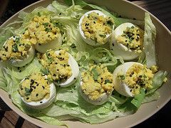Parsi Deviled Eggs – Indian inspired deviled eggs have cilantro, lime juice, and honey in them to make them delicious.