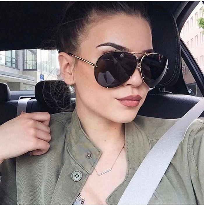 852cd4d3ed4 HUITUO 2017 New Metal Round Pilot Sunglasses Women Oversized Vintage  Sunglasses Unisex Brand Designer Glasses for