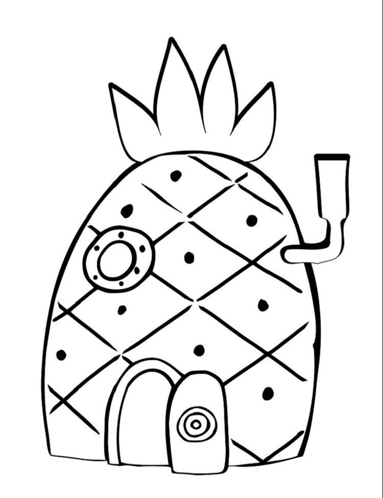 Printable Coloring Pages Spongebob Pineapple House Coloring Pages