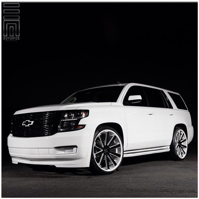2015 Chevy Tahoe! Customized with color matched front ...