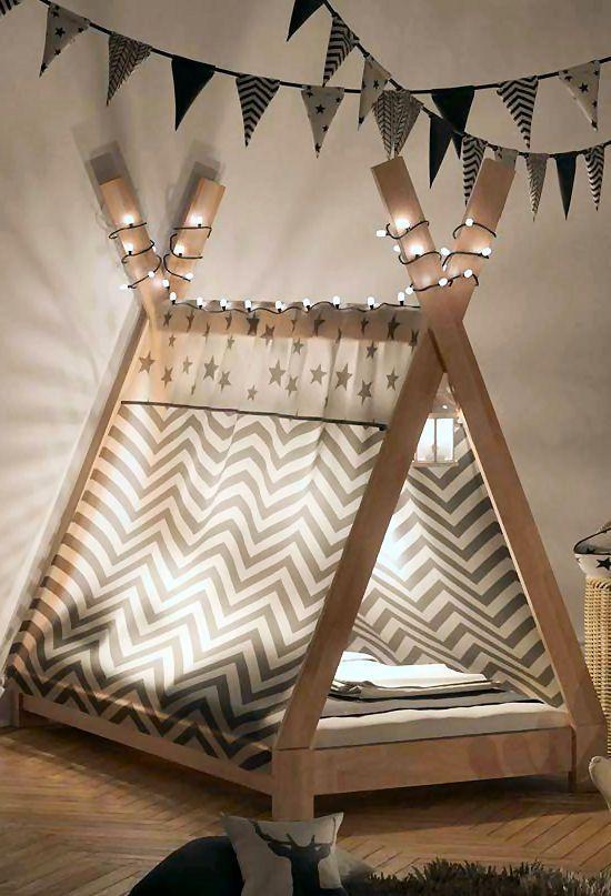 Tipi-Bett selbst bauen – freuen sich die Kids ⋆ Heimwerker Tipps