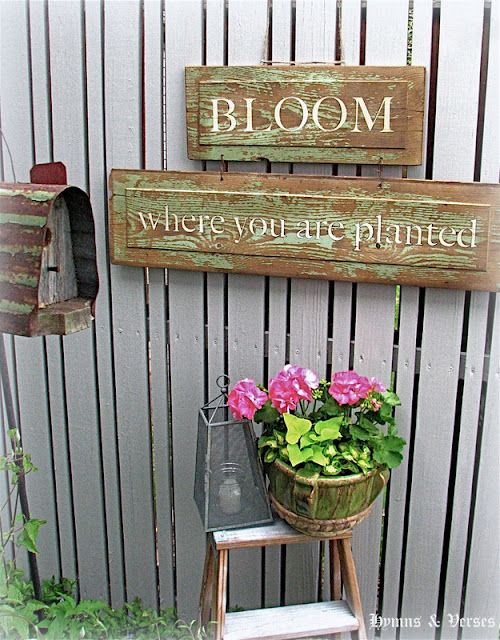 Bloom Where You Are Planted Garden Sign Hymns Garden Signs Bloom Where You Are Planted Bloom Where Youre Planted