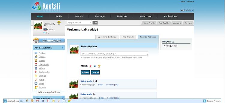 Get Kootali Facebook clone script to create a social network