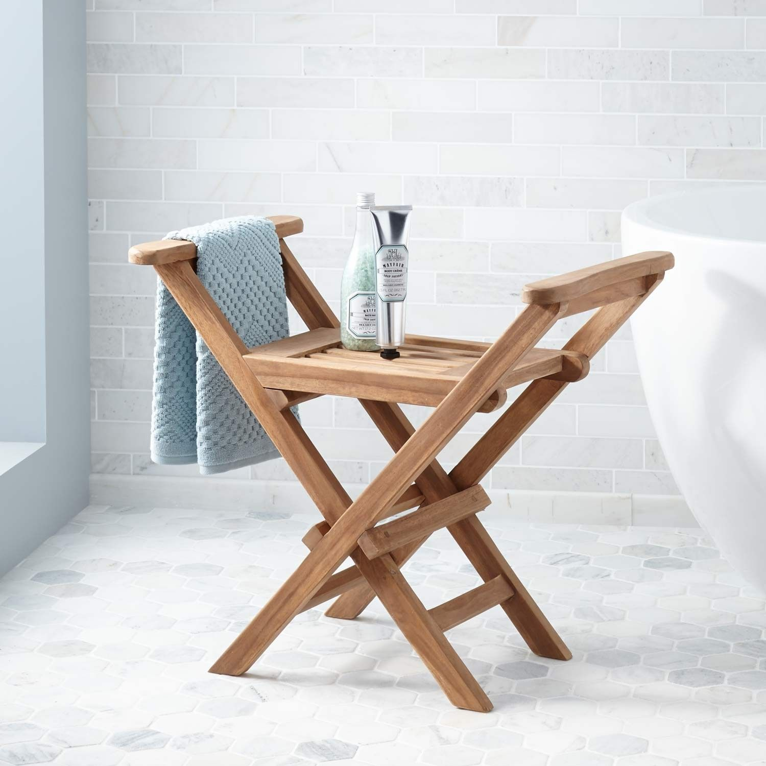 Deluxe Teak Shower Seat Bathroom Teak Shower Seat