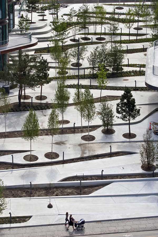 Modern Urban Landscape Architecture galeria de projeto urbano: city dune, a praça privada - 14