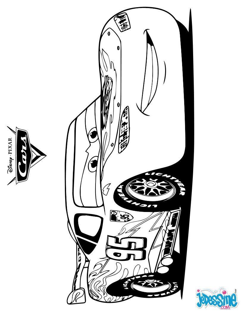 Cars 2 coloriage rayo mcqueen mcqueen et dibujos - Flash mcqueen a colorier ...