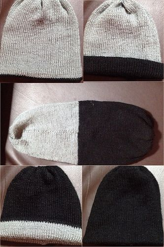This free pattern is more about how to join two hats together ...