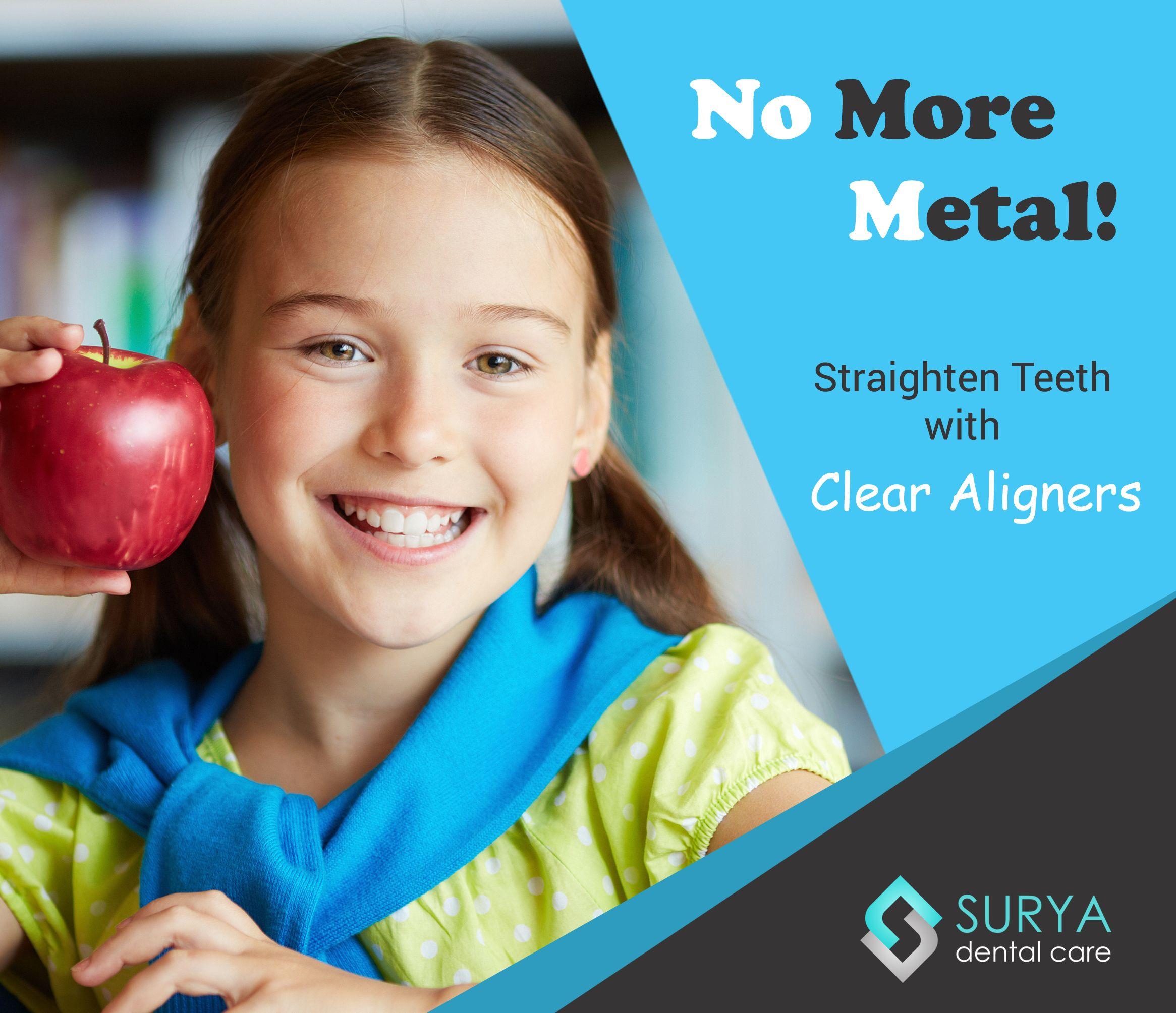 Embarrassing to wear traditional metallic braces without
