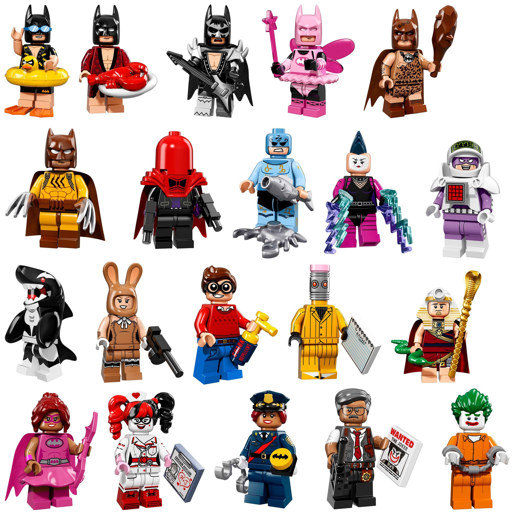 Lego Batman Movie Series Arkham Asylum Minifigures Display Case Picture Frame