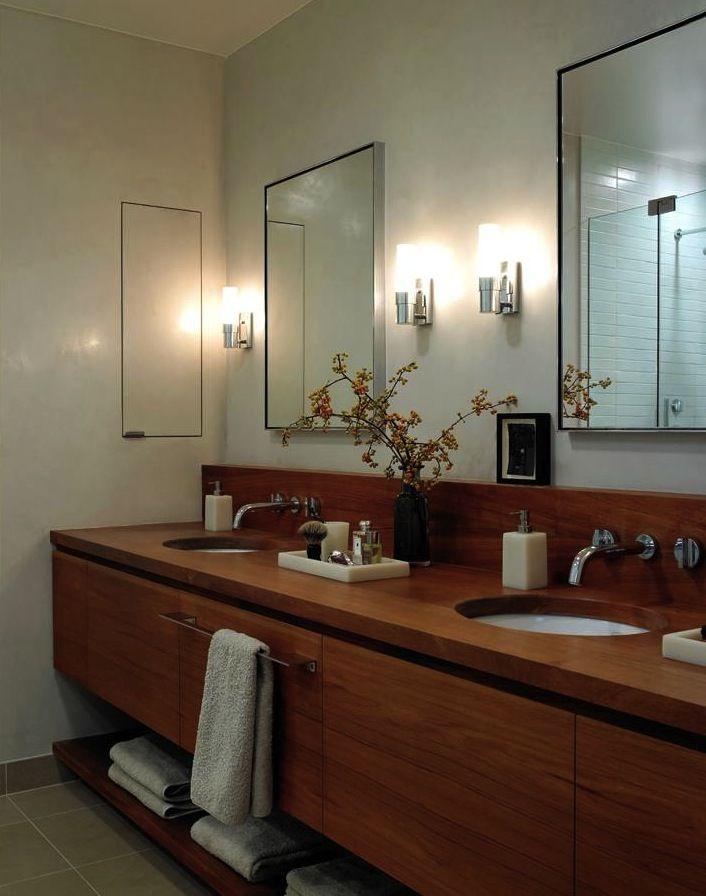 Modern Wood Vanity Banos Y Romanos