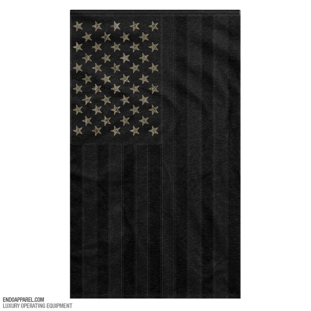 Endo All Black American Flag W/ Multicam Stars