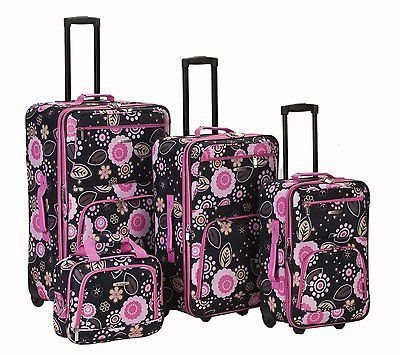Rockland Luggage Set 4pc Pucci Floral Print Expandable Rolling ...