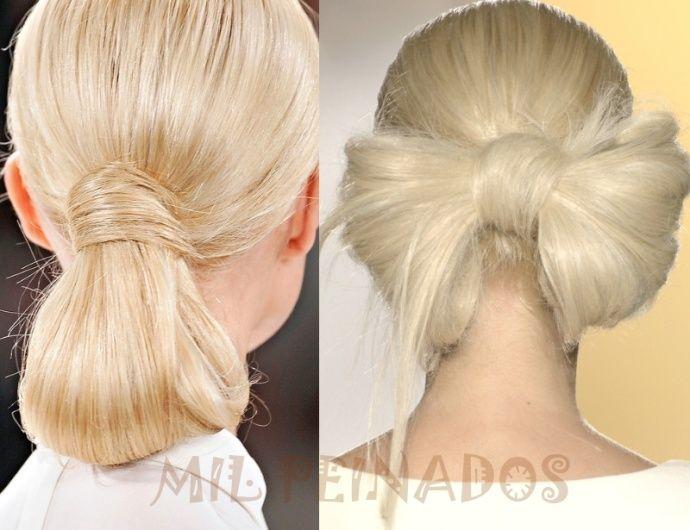 Peinados recogidos con nudos espectaculares Peinados Pinterest