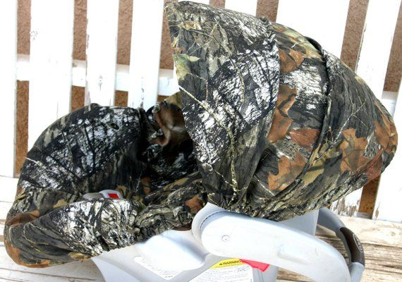 Mossy Oak Camo Car Seat Cover And Hood