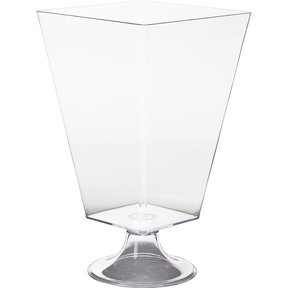 Clear plastic pedestal container 70oz pedestal
