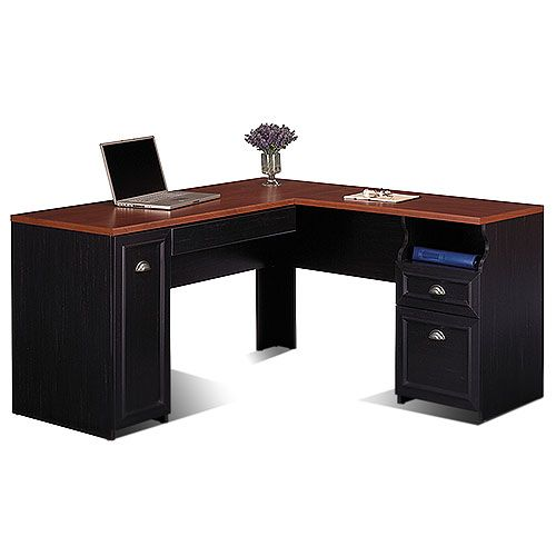 Bush Furniture Fairview L Shaped Desk In Antique Black Component