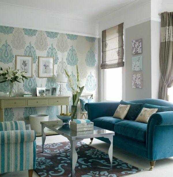 barock tapeten wohnzimmer einrichtung barock stil | Barock Tapeten ...