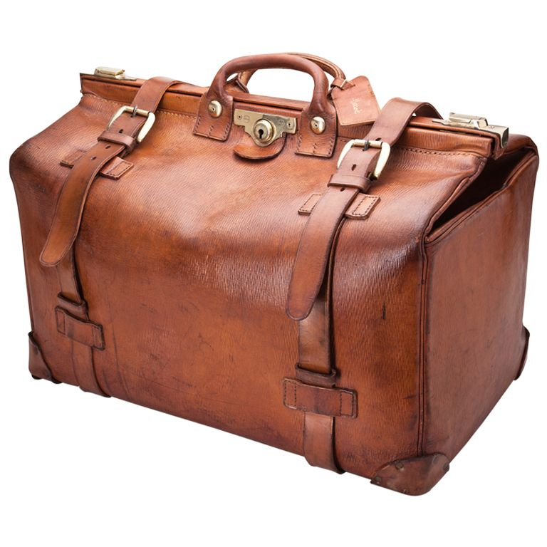 1stdibs Large Leather Gladstone Bag By Harrods Of London