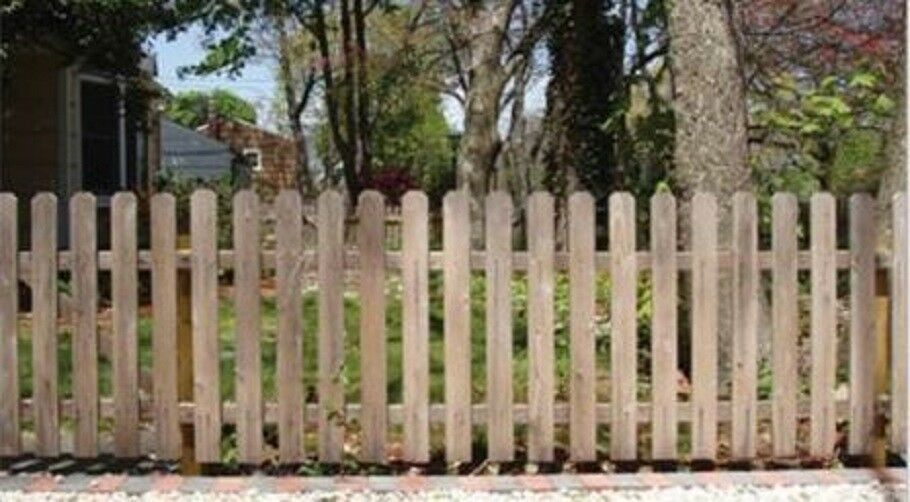 Cedar Spaced Picket Wood Fence Jefferson Style Dogear Top 4 High X 80 Linear Wood Fence Wood Picket Fence Garden Fence