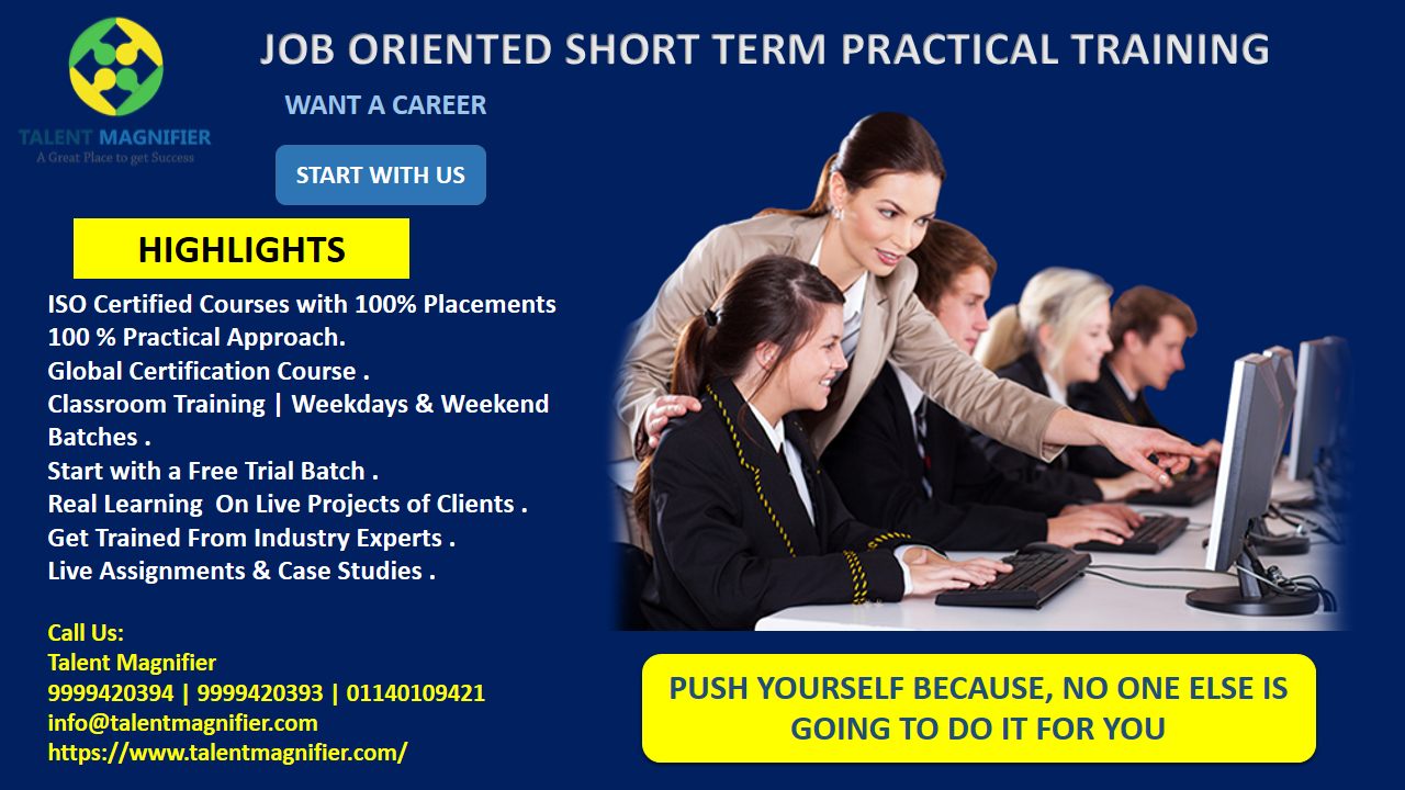 Get The Most Effective And Trustworthy Job Oriented Certification