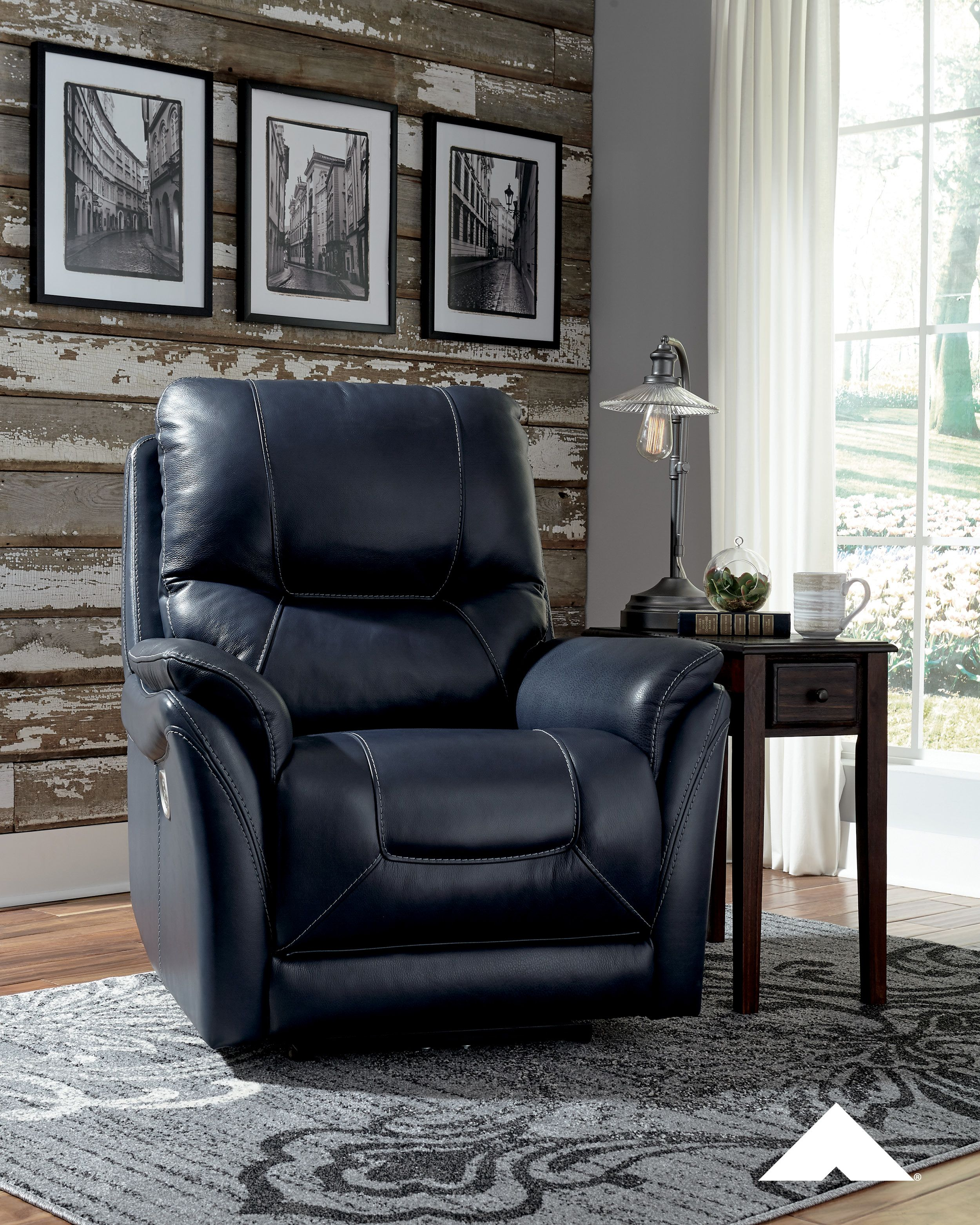 Stolpen Contemporary Power Recliner With Adjustable Headrest By