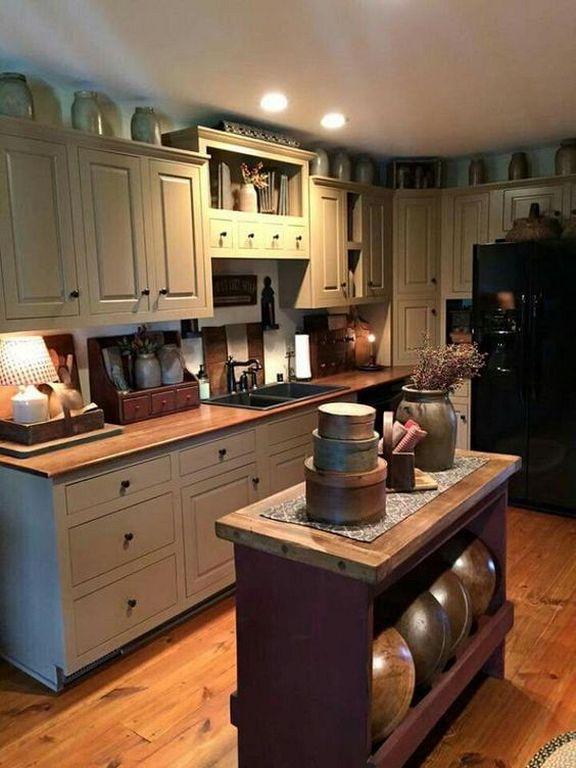 20 Unique Primitive Country Kitchen Design Ideas