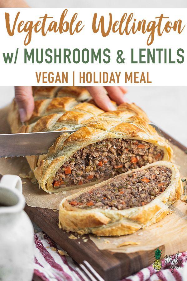 Vegetable Wellington W Lentils Mushrooms