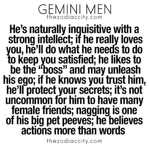Gemini man likes you