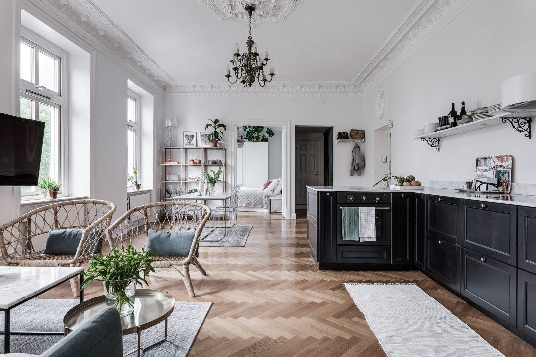 Interior goals! Deze Scandinavische woonkeuken is prachtig