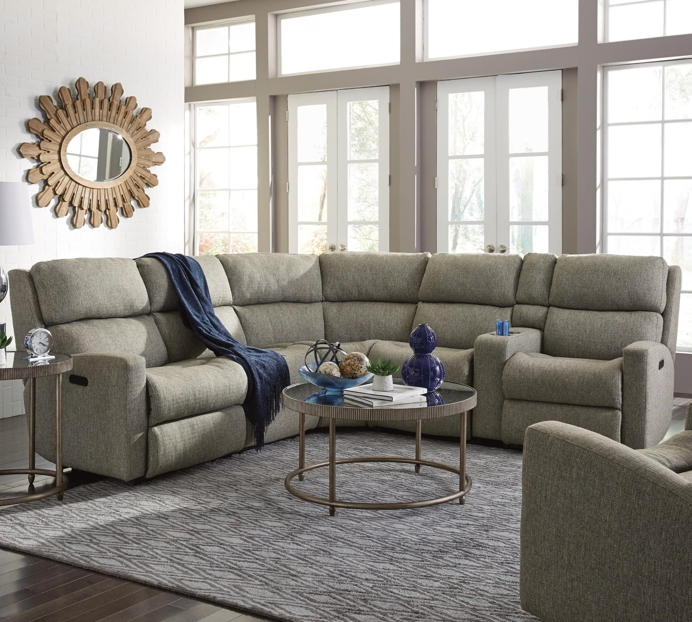 Catalina 6 Pc Reclining Sectional W Pwr Headrests By Flexsteel Available At M Reclining Sectional Power Reclining Sectional Sofa Sectional Sofa With Recliner