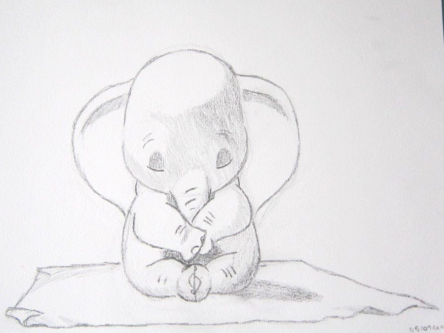 baby dumbo drawing - Google Search | Cookie Madness - Inspiration ...
