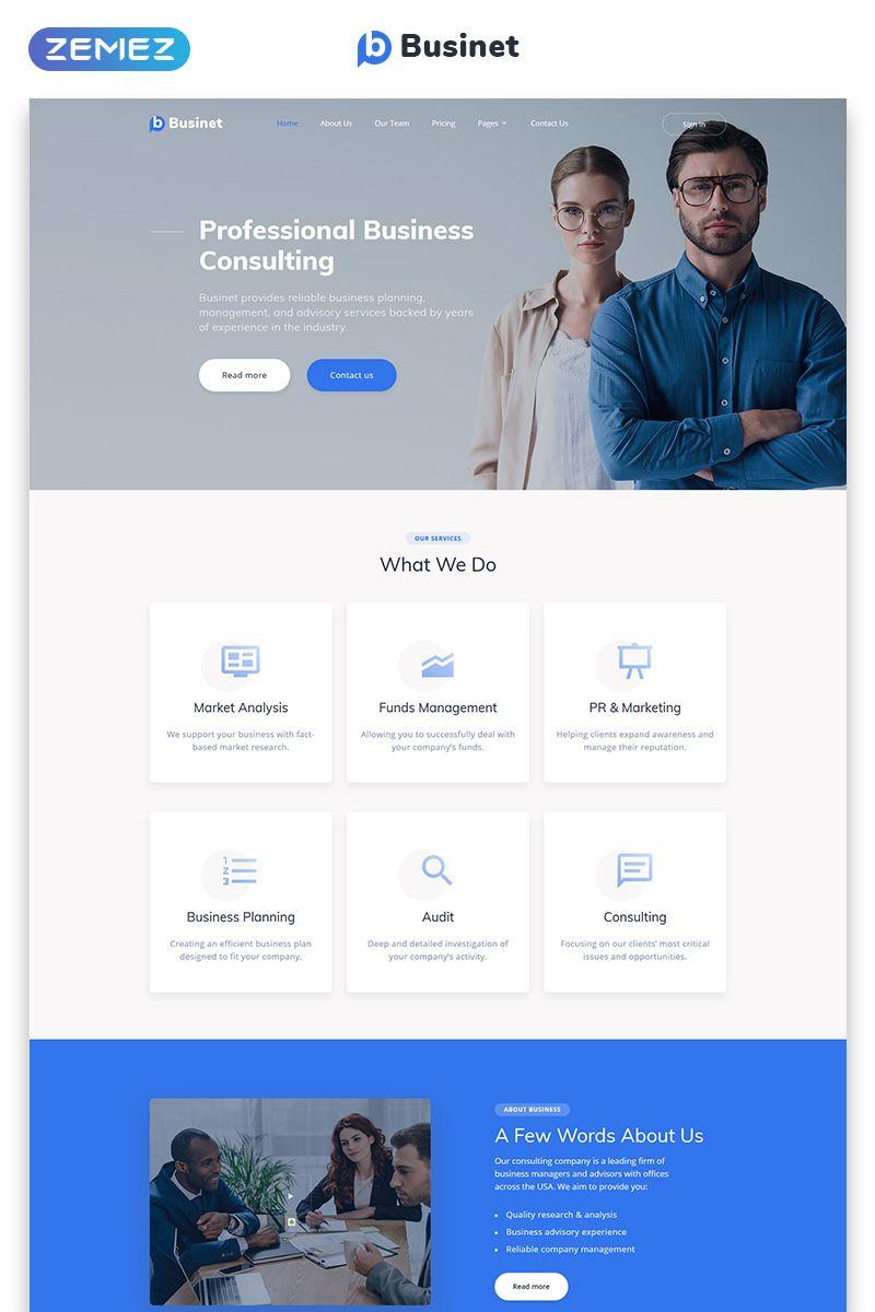 Businet Business Consulting Modern Multipage Html5 Website Template Em 2020 Inspiracao Web Design Web Design Projetos De Escritorio