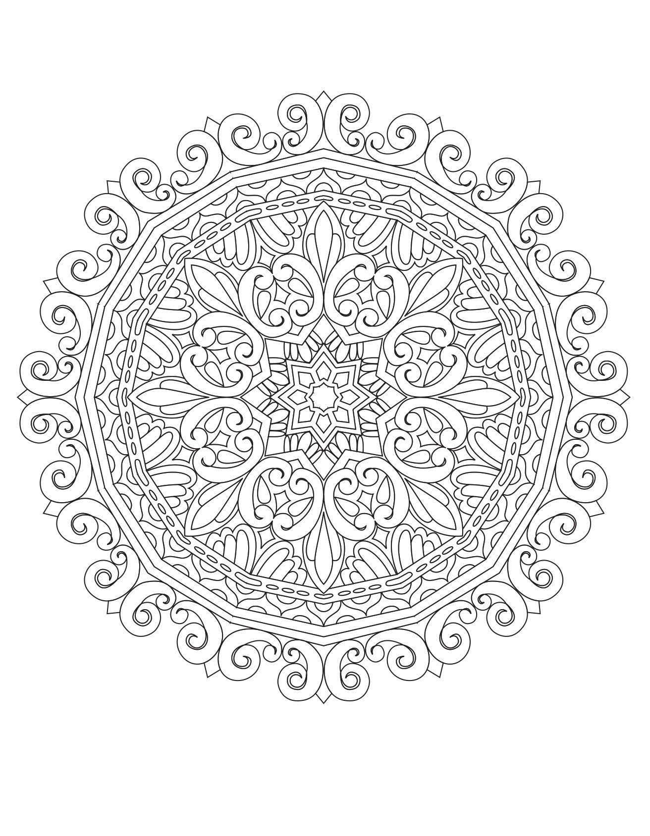 Robot Check Mandala Coloring Books Witch Coloring Pages Mandala Coloring Pages
