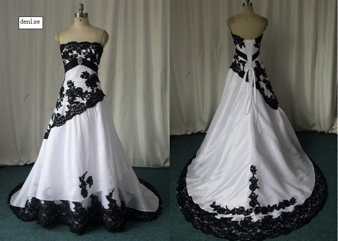 Custom Handmade Black & White Ball Gown! Very Pretty! | Masquerade ...
